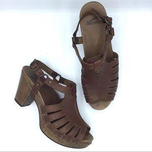 Dansko Randy Brandy Brown Leather Slingback Heel